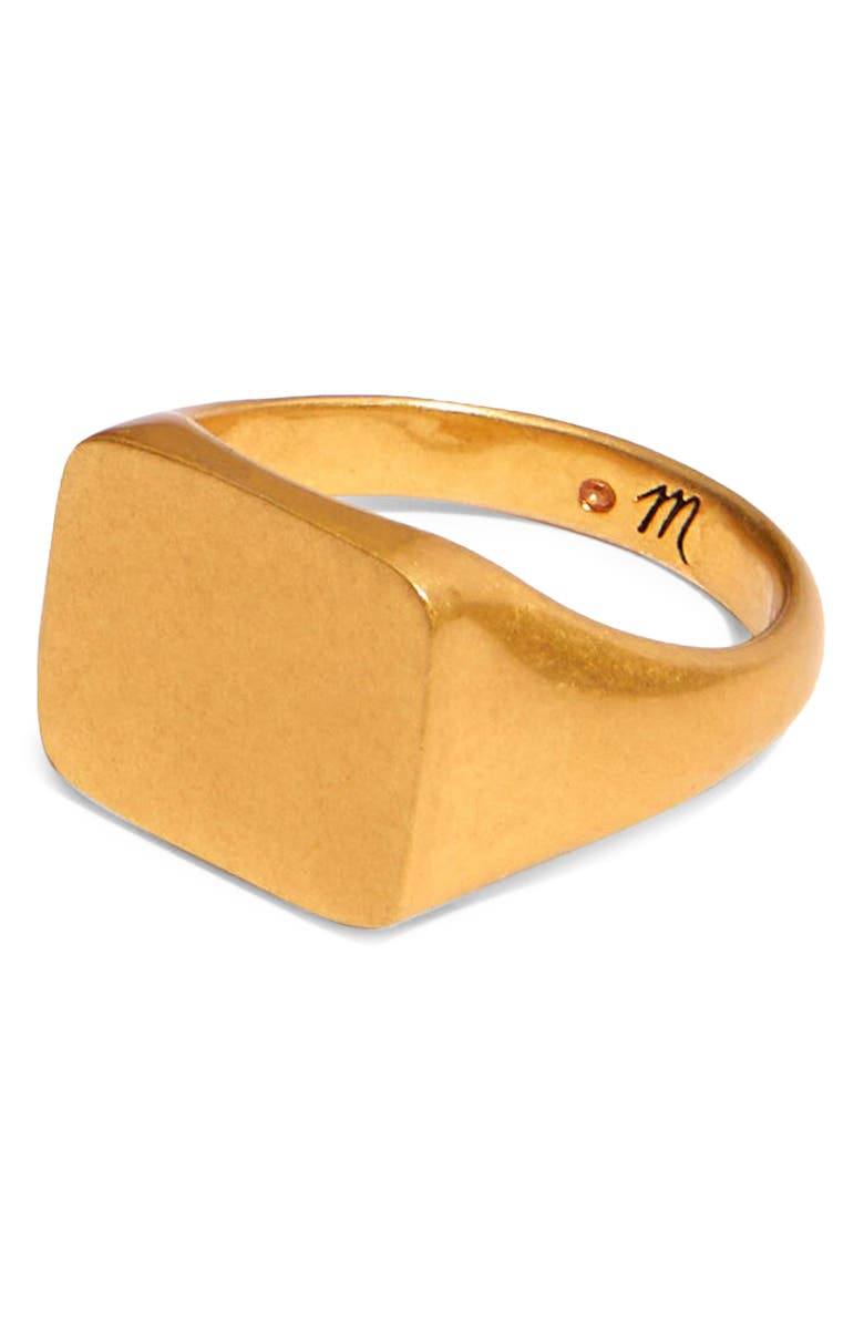 MADEWELL Chunky Signet Ring, Main, color, VINTAGE GOLD