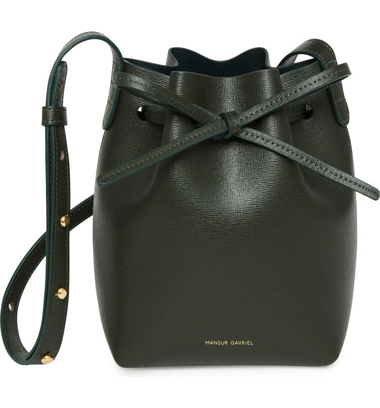 MANSUR GAVRIEL Mini Mini Leather Bucket Bag, Main, color, 300