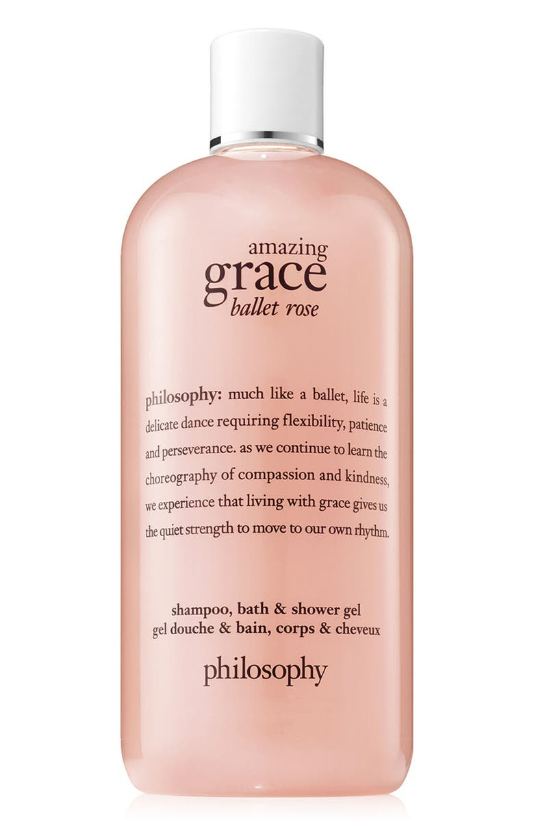 PHILOSOPHY amazing grace ballet rose shampoo, bath & shower gel, Main, color, 000