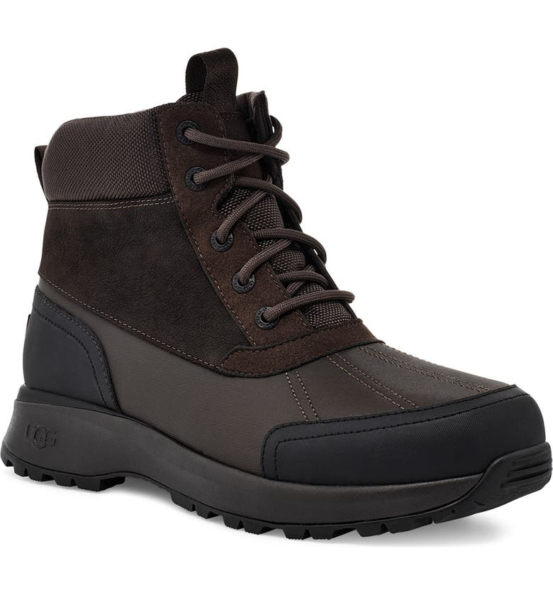 UGG<SUP>®</SUP> UGG Emmett Waterproof Snow Boot, Main, color, STOUT LEATHER