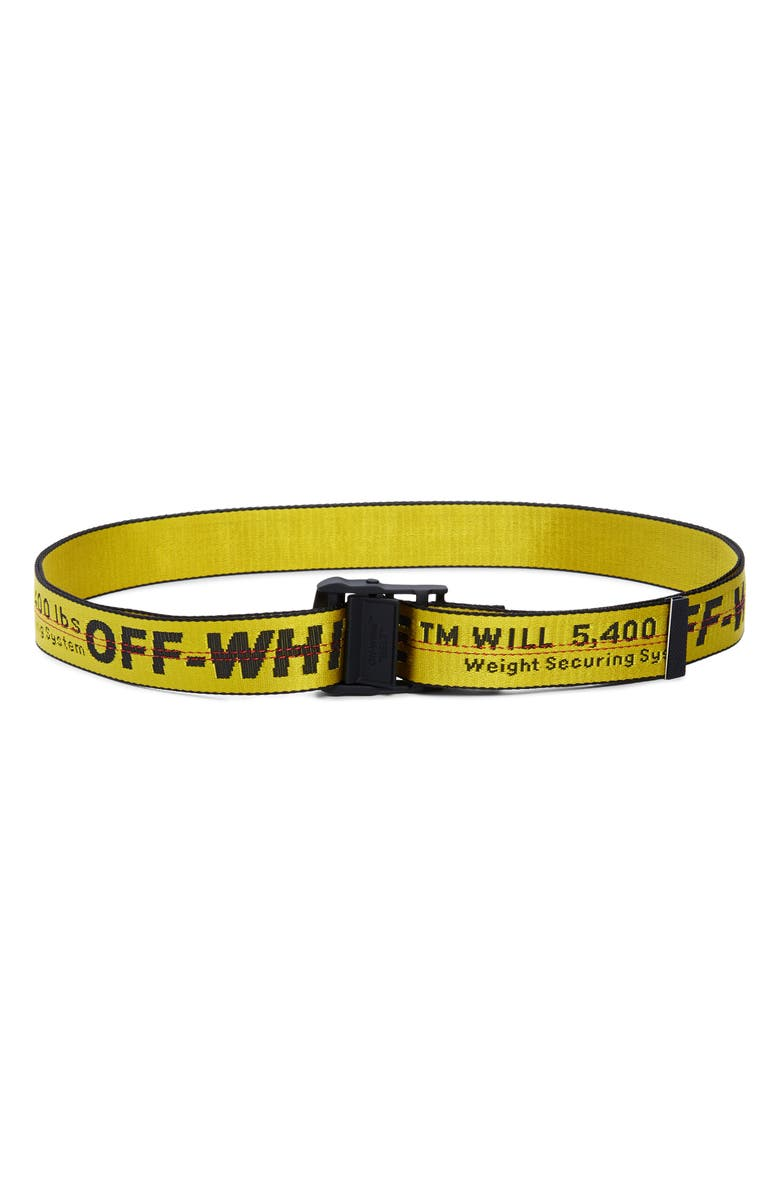 OFF-WHITE Classic Industrial Web Belt, Main, color, YELLOW BLACK