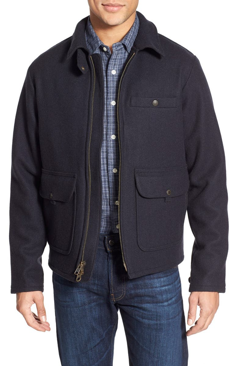 FILSON 'Anchor Point' Flannel Lined Wool Jacket, Main, color, 466