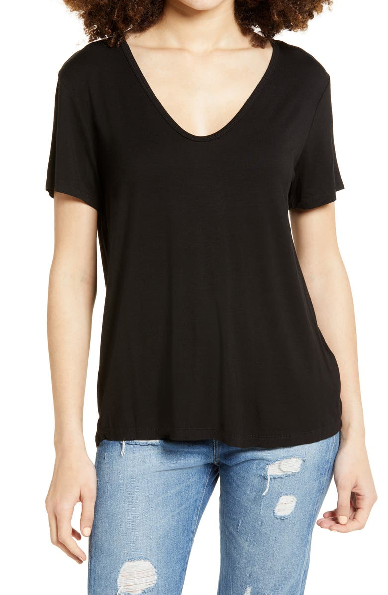 ALL IN FAVOR V-Neck T-Shirt, Main, color, 001