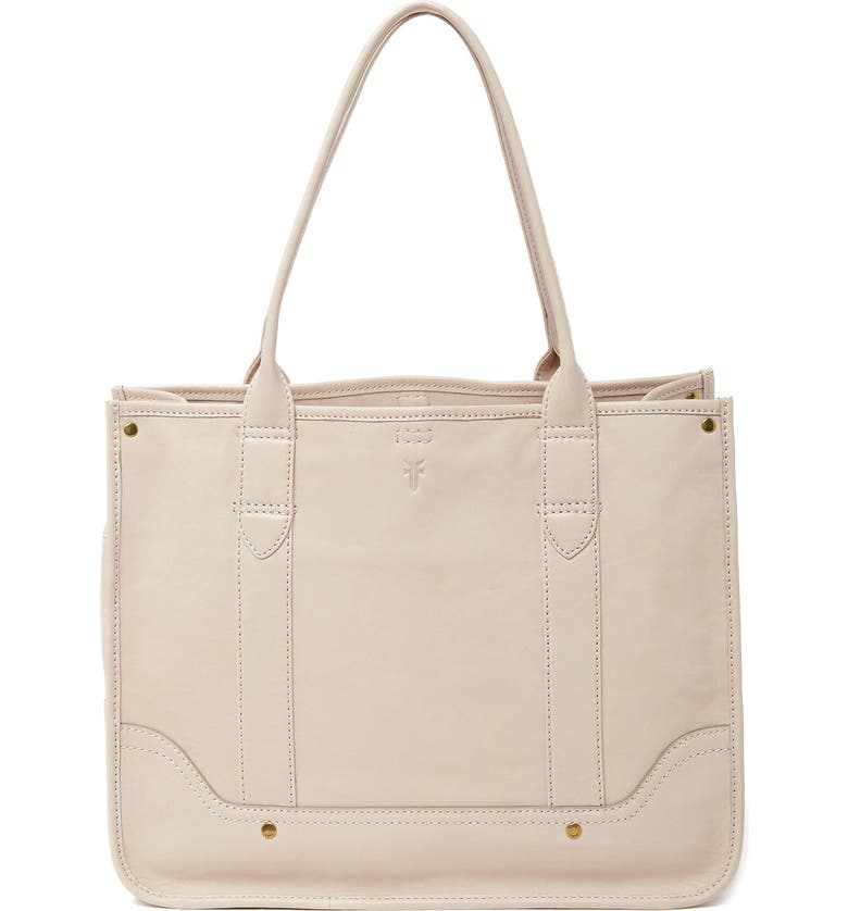 FRYE Madison Shopper Leather Tote Bag, Main, color, STONE