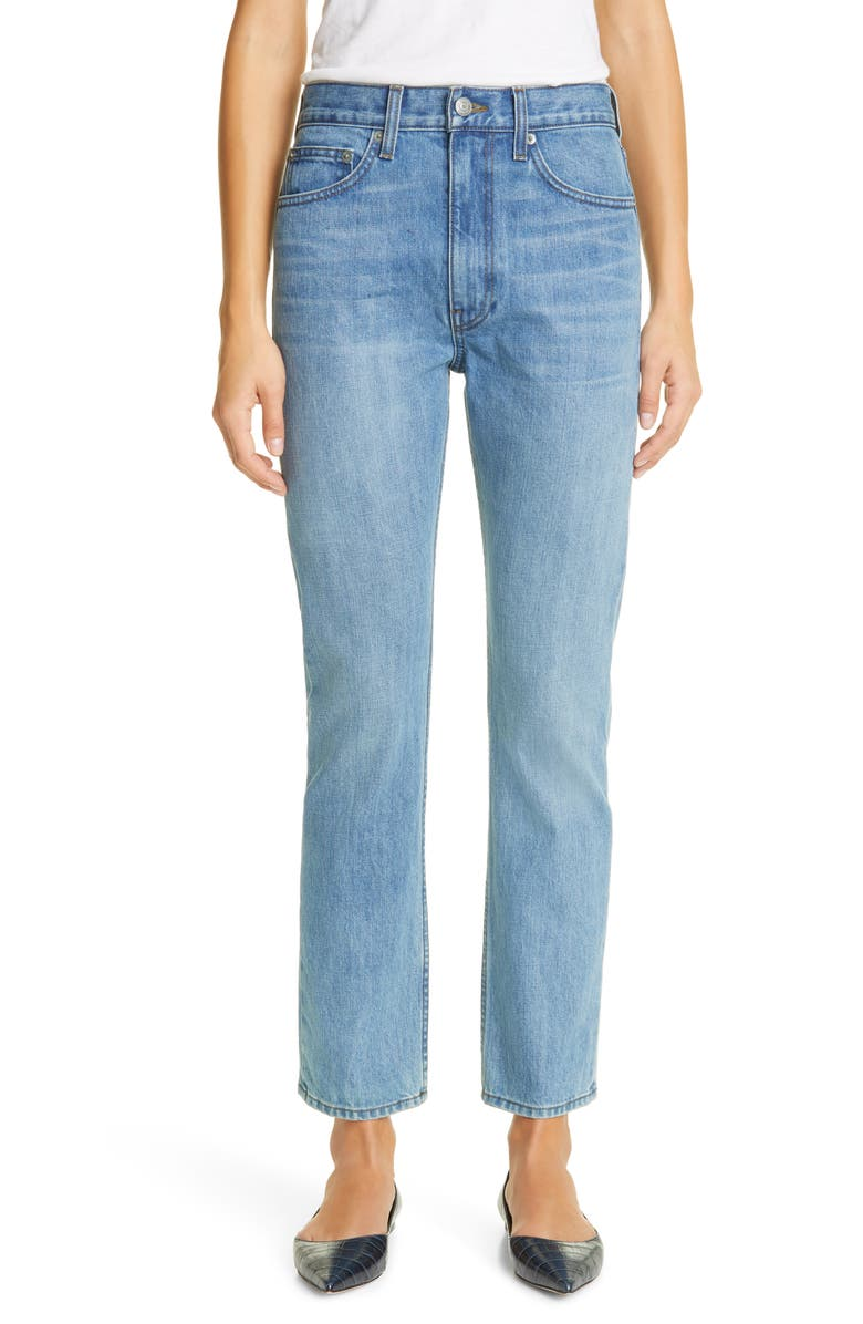BROCK COLLECTION Straight Leg Jeans, Main, color, 400