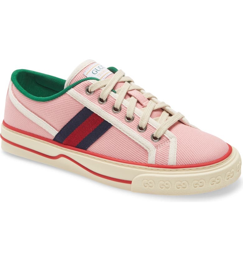 GUCCI Tennis 1977 Lace-Up Sneaker, Main, color, WILD ROSE