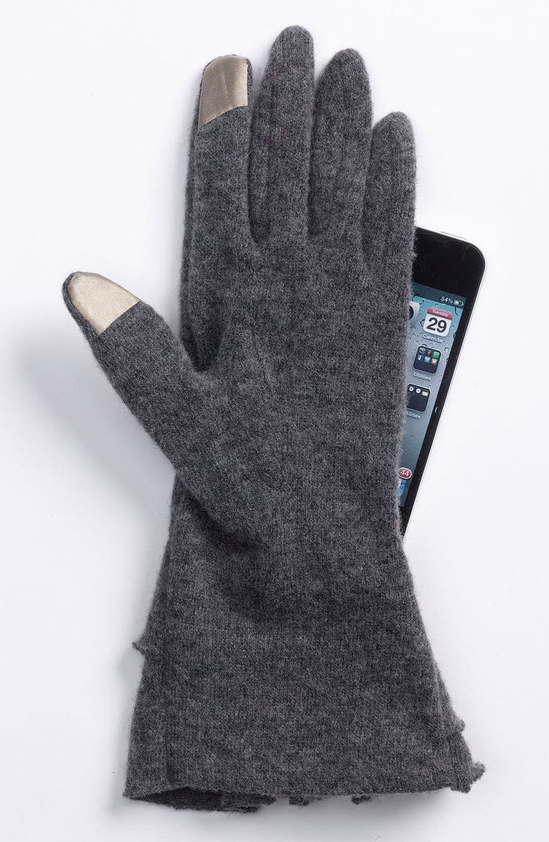 NORDSTROM Ruffle Tech Gloves, Main, color, 001