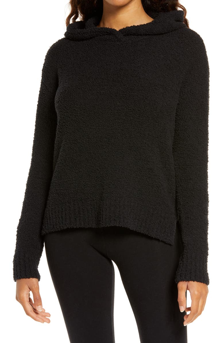 UGG<SUP>®</SUP> Louise Fluffy Lounge Hoodie, Main, color, BLACK