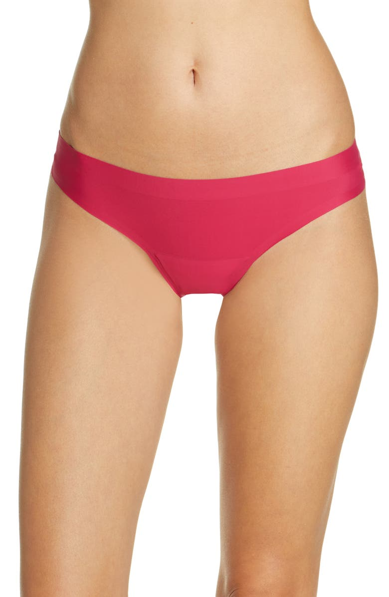 KNIX Leakproof Low Rise Thong, Main, color, PINK CRUSH