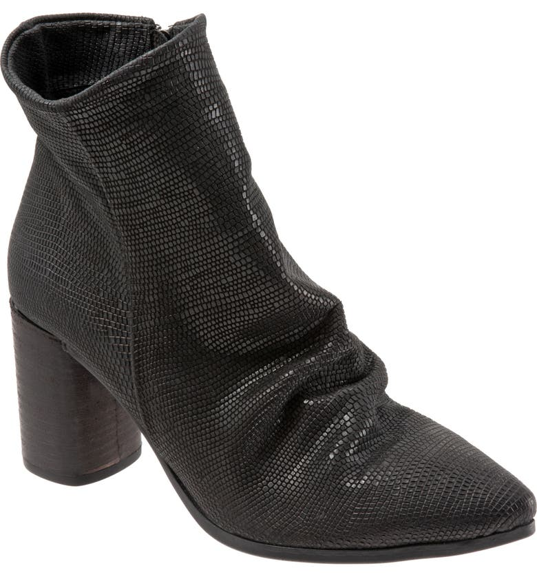 BUENO Jana Bootie, Main, color, BLACK LIZARD LEATHER