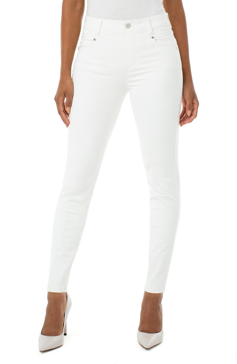 LIVERPOOL Gia Glider Skinny Pull-On Jeans, Main, color, 105