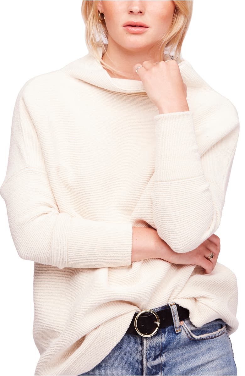 FREE PEOPLE Ottoman Slouchy Tunic, Main, color, IVORY