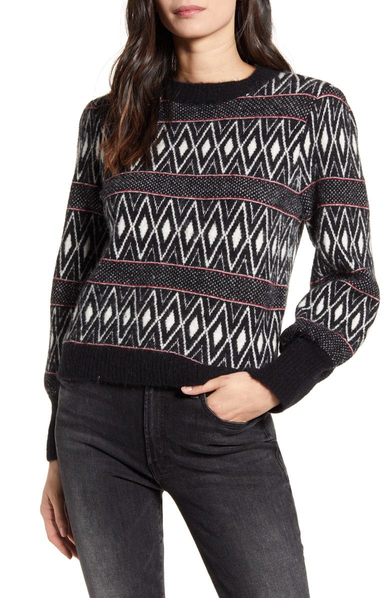 RAILS Ana Geo Pattern Sweater, Main, color, 002