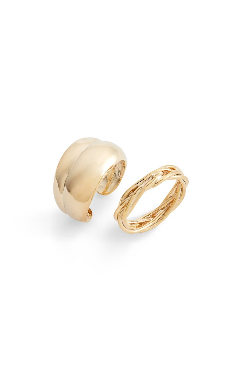 8 OTHER REASONS Draya Michele Sway Set of 2 Rings, Main, color, GOLD