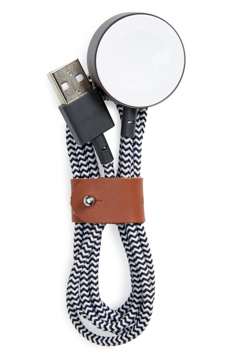 NATIVE UNION Apple Watch Charging Cable, Main, color, ZEBRA