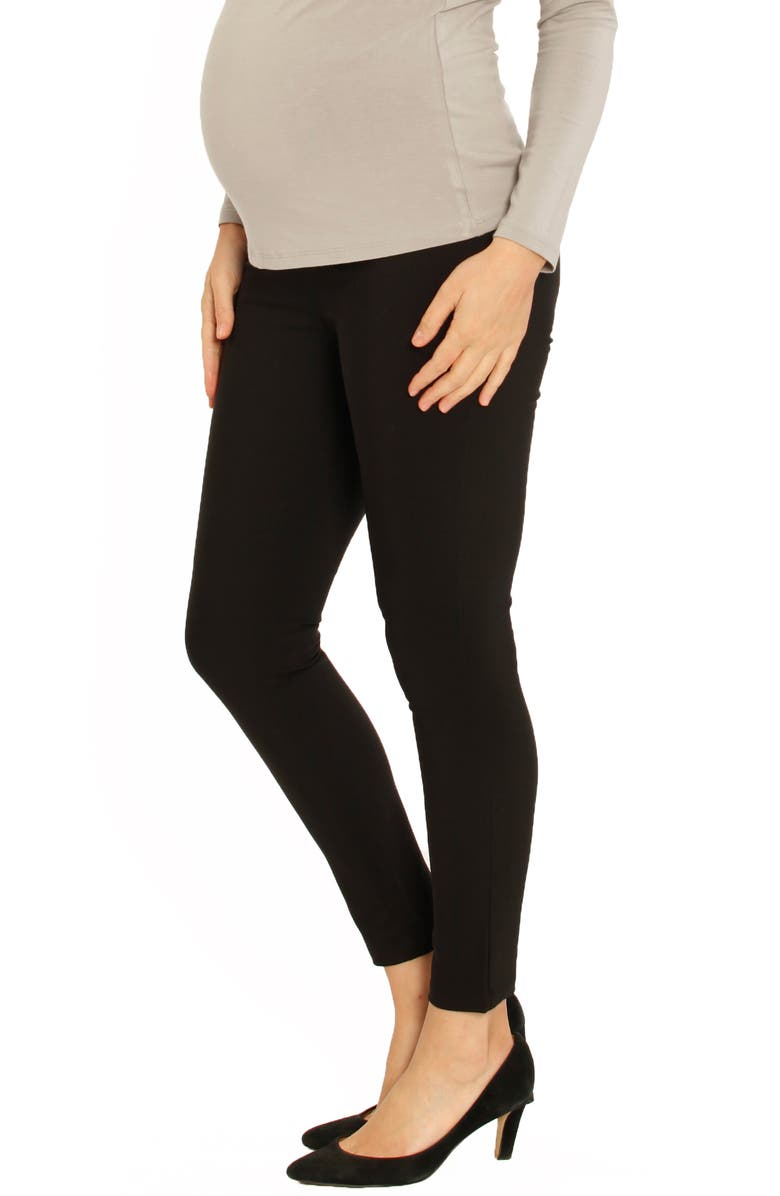 ANGEL MATERNITY Fitted Straight Leg Maternity Pants, Main, color, Black