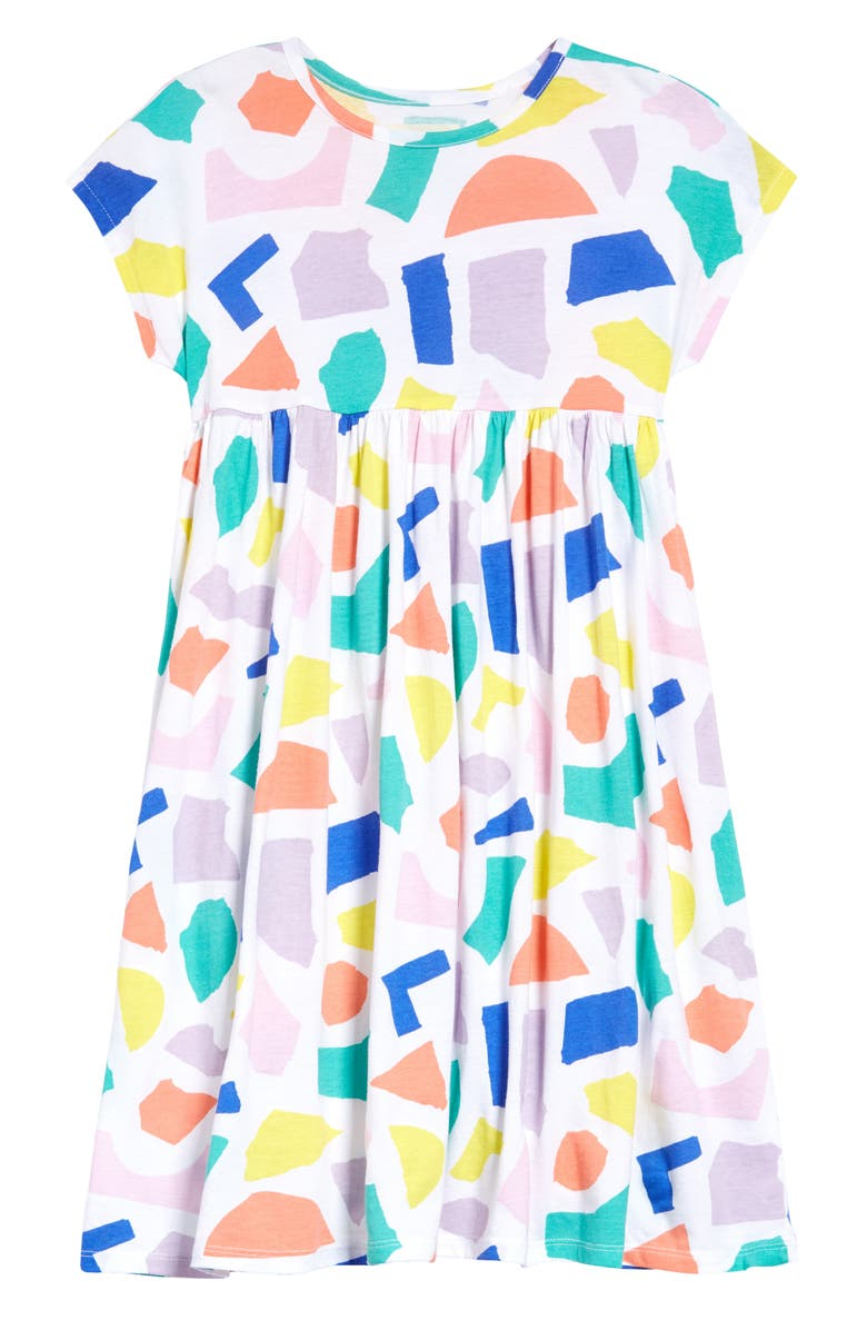 OPEN EDIT Kids' Easy Bold Dress, Main, color, WHITE TORN PAPER