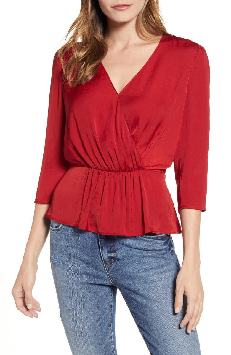 1.STATE Peplum Blouse, Main, color, SPICED APPLE