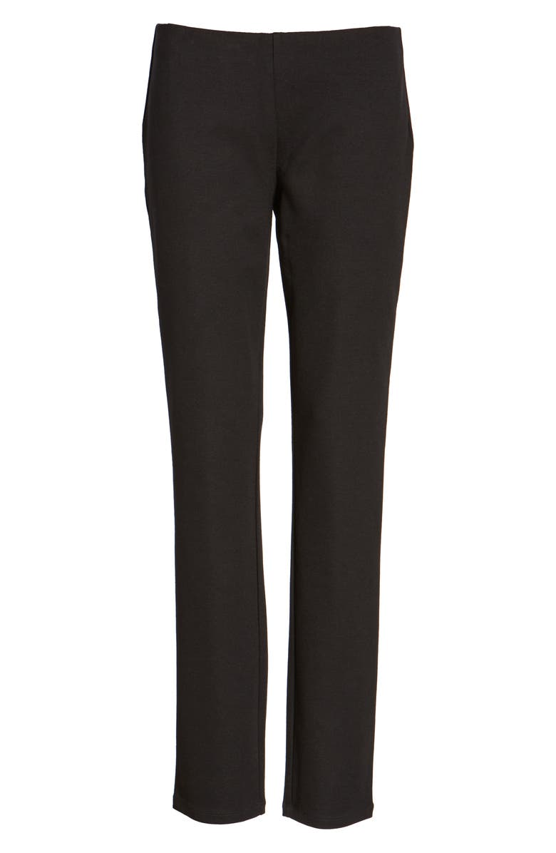 EILEEN FISHER Slim Ponte Knit Pants, Main, color, 001