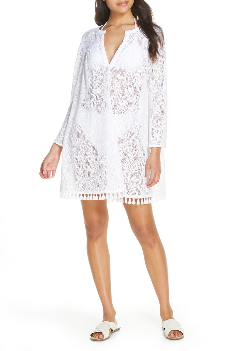 LILLY PULITZER<SUP>®</SUP> Kizzy Lace Cover-Up Tunic, Main, color, 115