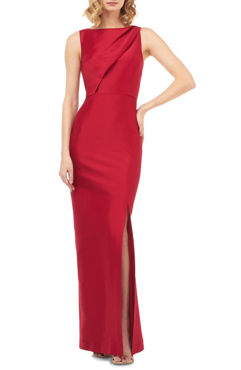 KAY UNGER Serena Mikado Evening Gown, Main, color, 608