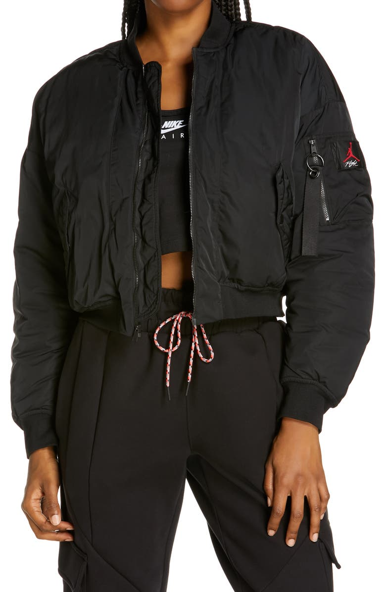 JORDAN Flight Jacket, Main, color, BLACK/ BLACK/ BLACK