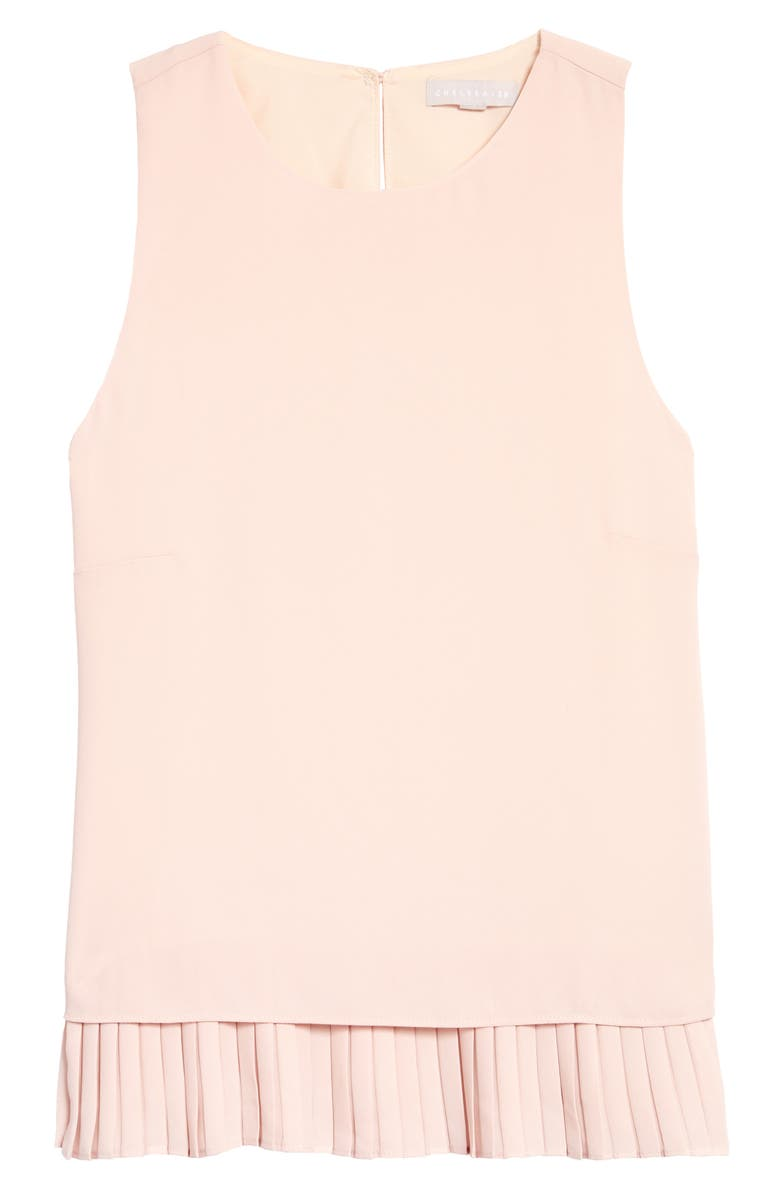 CHELSEA28 Pleat Hem Tank, Main, color, PINK SMOKE