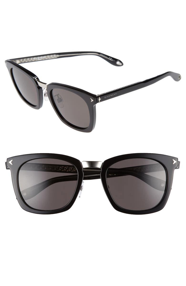 GIVENCHY 53mm Sunglasses, Main, color, 001