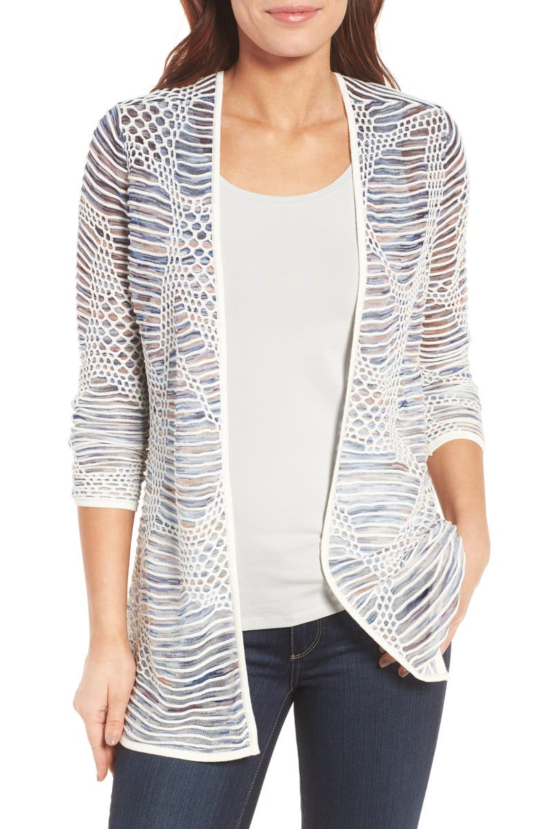 NIC+ZOE Wildflower Open Front Cardigan, Main, color, 490