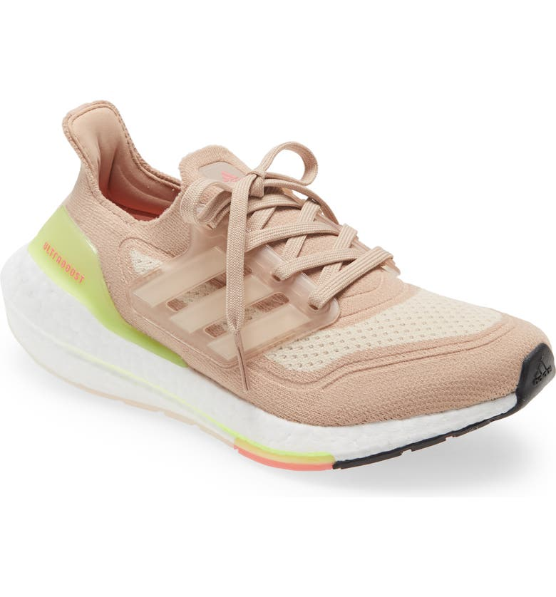ADIDAS UltraBoost 21 Running Shoe, Main, color, ASH PEARL/ WHITE/ HALO IVORY