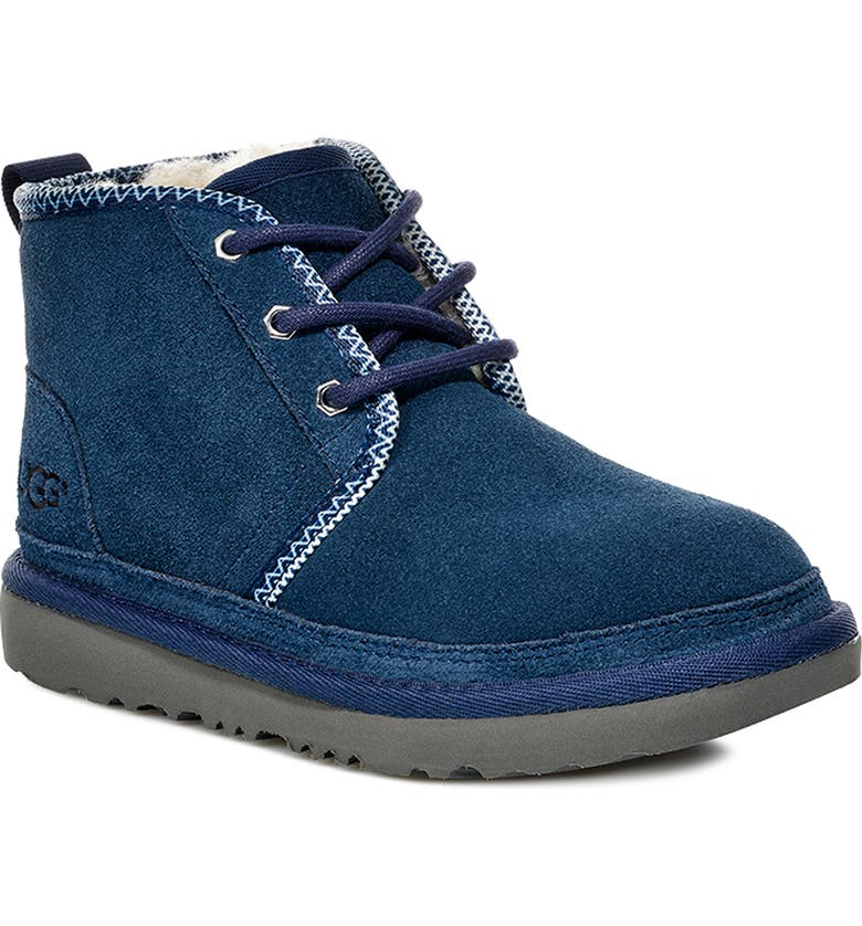 UGG<SUP>®</SUP> Neumel II Tasman Genuine Shearling Chukka Boot, Main, color, NAVY / TASMAN