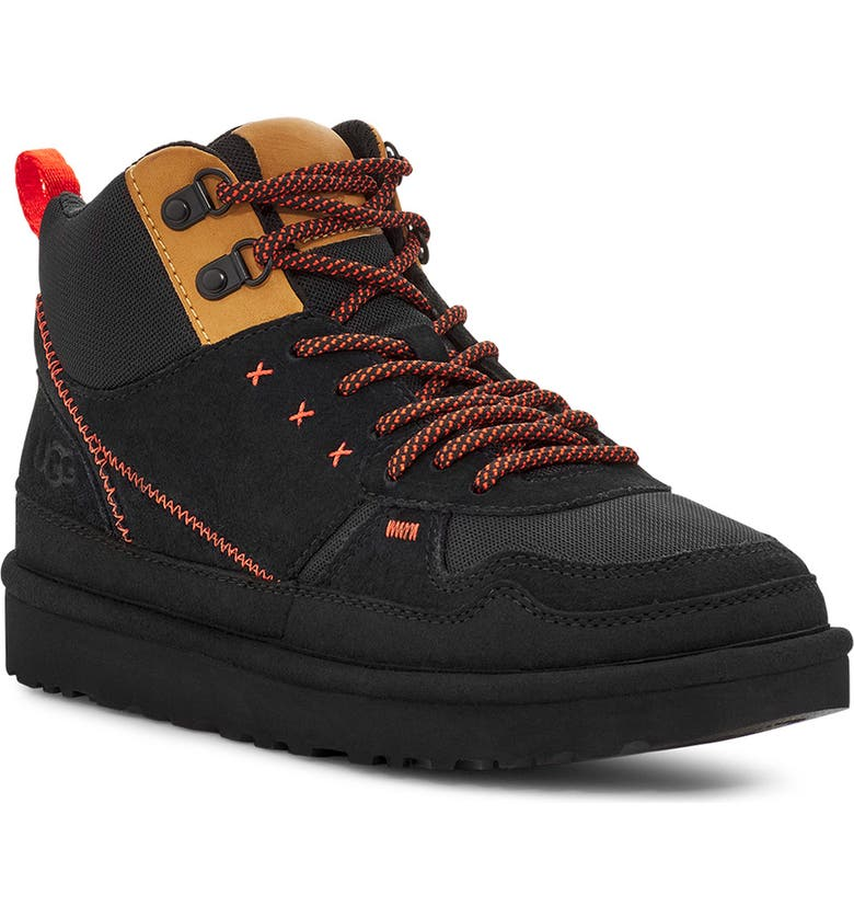 UGG<SUP>®</SUP> Highland High Top Heritage Hiking Boot, Main, color, BLACK SUEDE