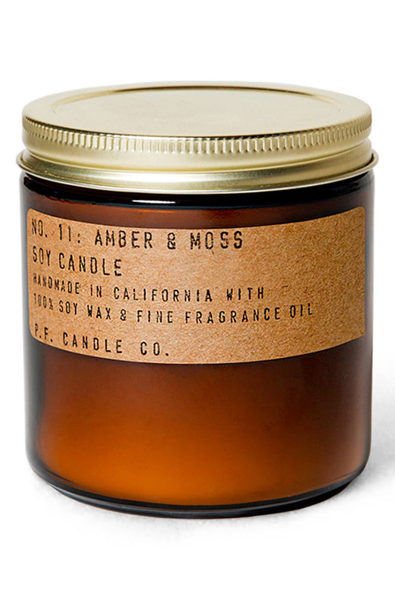 P.F. CANDLE CO. Soy Candle, Main, color, AMBER AND MOSS