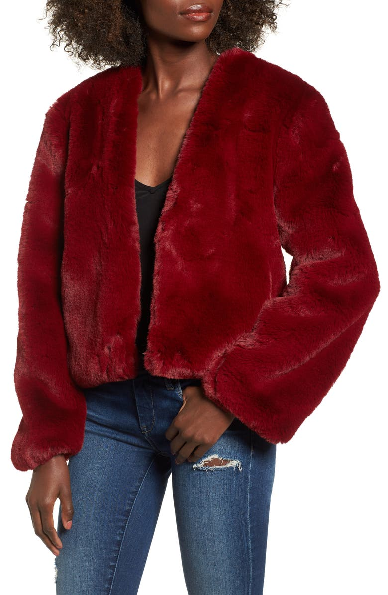 SOMEDAYS LOVIN Lonely Hearts Faux Fur Jacket, Main, color, 600