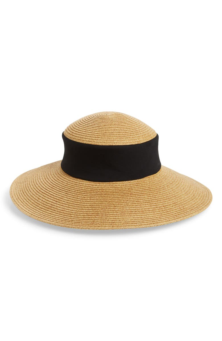 SAN DIEGO HAT Collapsible Crown Sun Hat, Main, color, 001