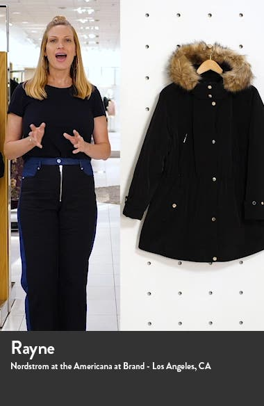 Hooded Coat with Removable Faux Fur Trim, sales video thumbnail