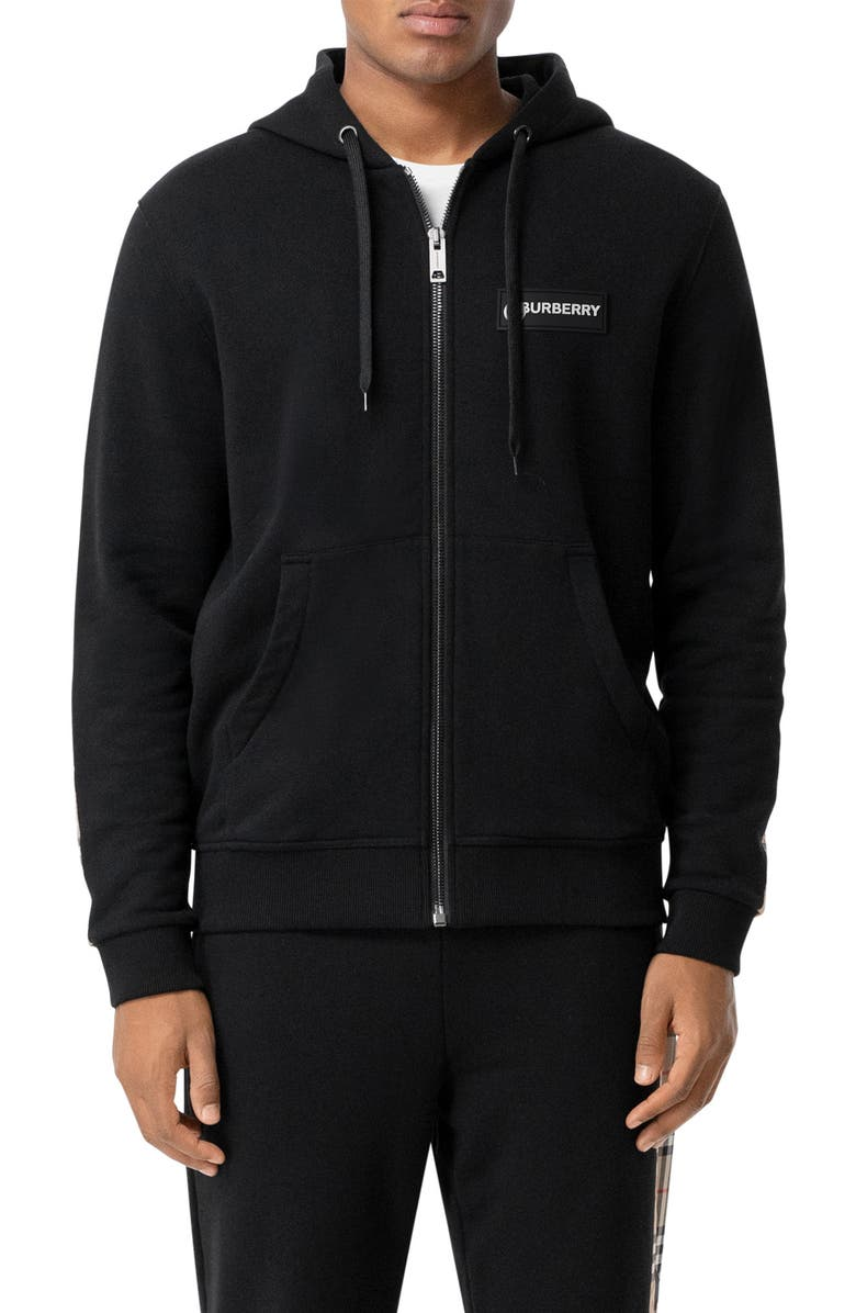 BURBERRY Asherby Hoodie, Main, color, Black