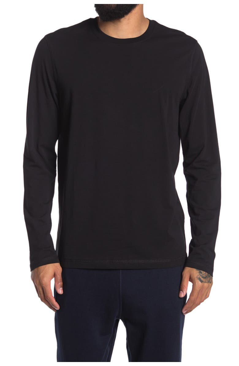 90 DEGREE BY REFLEX Crew Neck Long Sleeve T-Shirt, Main, color, BLACK