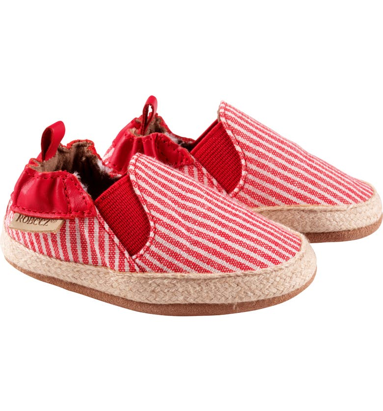 ROBEEZ<SUP>®</SUP> Waverly Stripe Espadrille Crib Shoe, Main, color, 600