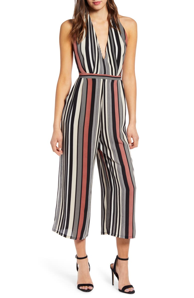 LEITH Halter Cropped Jumpsuit, Main, color, 660