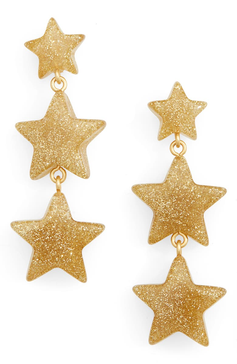 MADEWELL Glitter Stars Statement Earrings, Main, color, 710