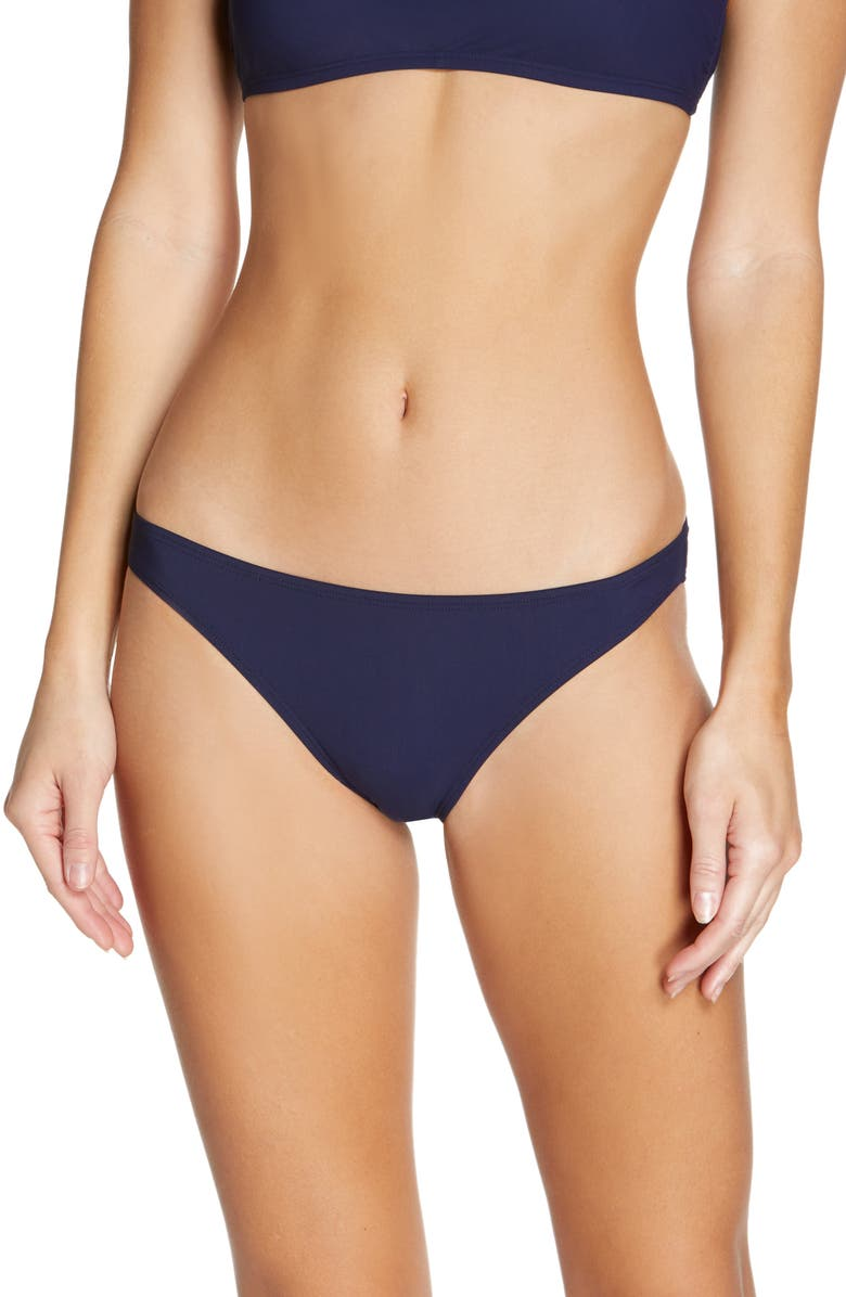 TORY BURCH Solid Hipster Bikini Bottoms, Main, color, TORY NAVY