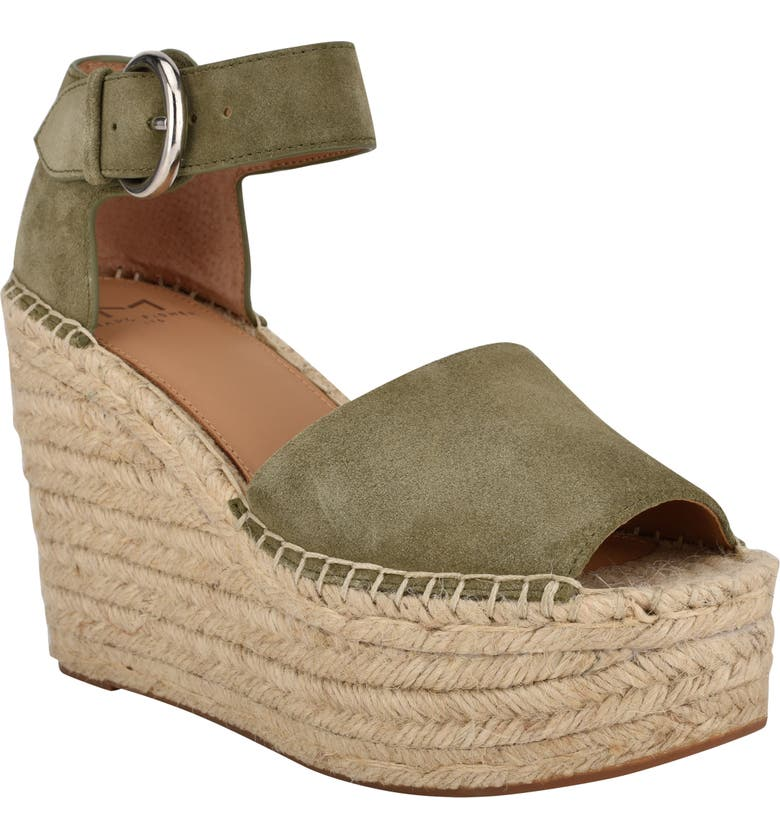 MARC FISHER LTD Alida Espadrille Platform Wedge, Main, color, BOSCO SUEDE