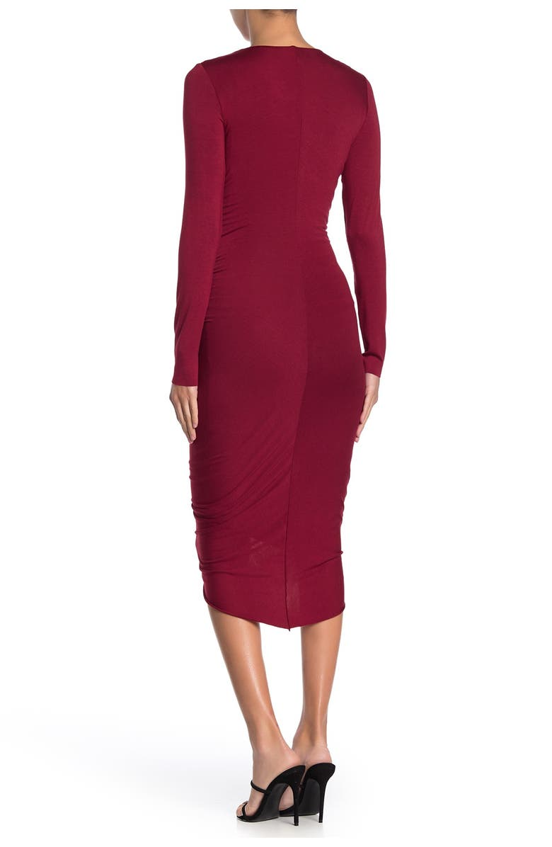 BAILEY 44 High Roller Ruch High/Low Dress, Main, color, RUBY