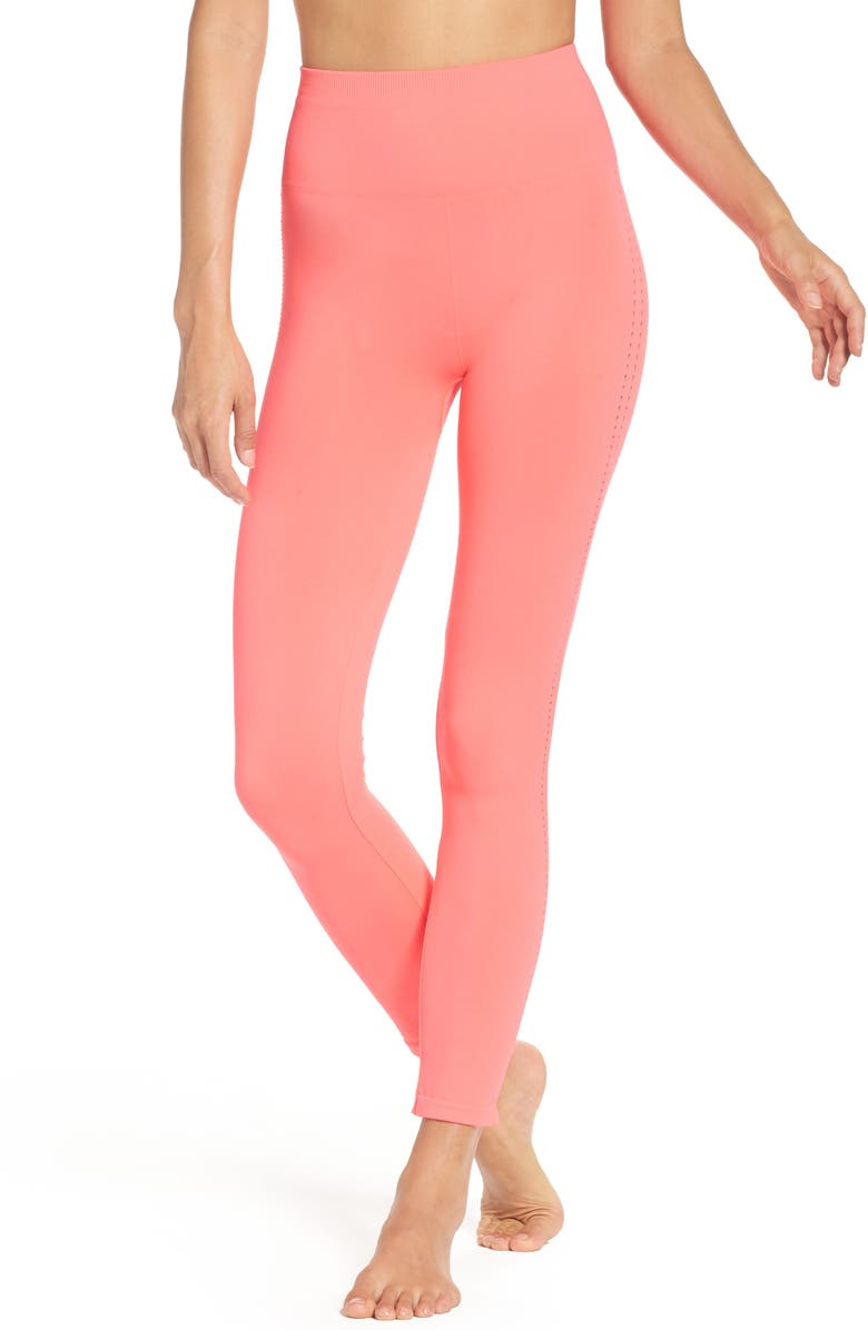 FREE PEOPLE FP Movement Barely There High Waist Leggings, Main, color, Dark Pink