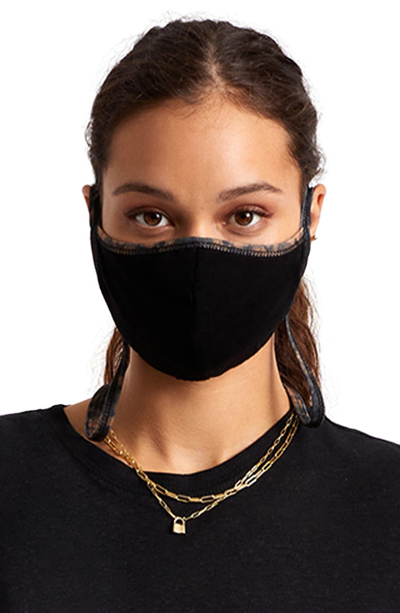 BRIXTON Everything Reversible Adult Face Mask, Main, color, BLKSW