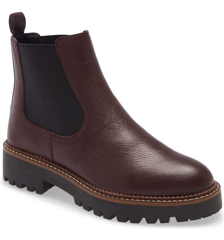CASLON<SUP>®</SUP> Miller Water Resistant Chelsea Boot, Main, color, BURGUNDY