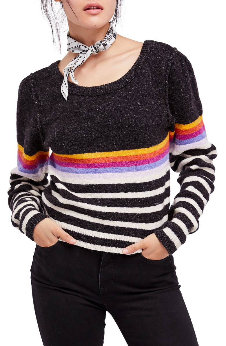 FREE PEOPLE Complete Me Sweater, Main, color, Black