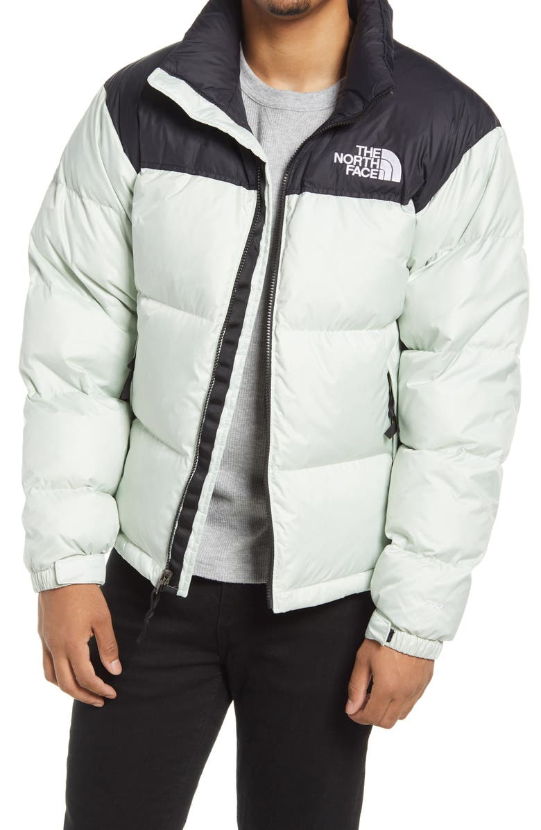 THE NORTH FACE Men's Nuptse<sup>®</sup> 1996 Packable Quilted Down Jacket, Main, color, GREEN MIST