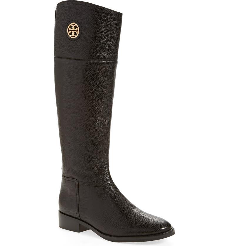 TORY BURCH 'Junction' Riding Boot, Main, color, 001